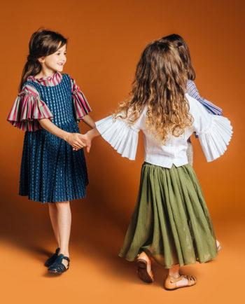 Chiffon Skirt Olive Style