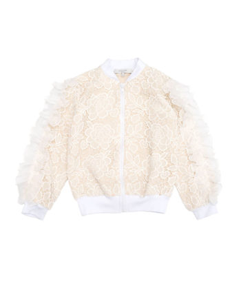 Lace Bomber Jacket Desert Queen Sand