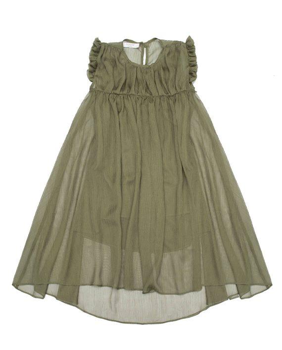 Chiffon Maxi Dress Mosaic Olive