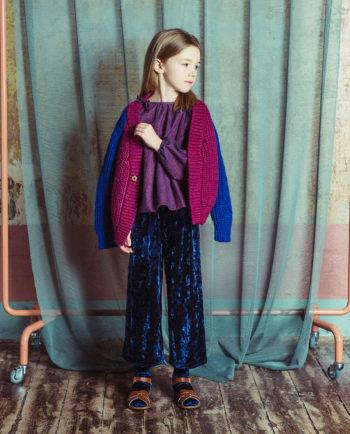 Velvet Culottes Matilda Blue
