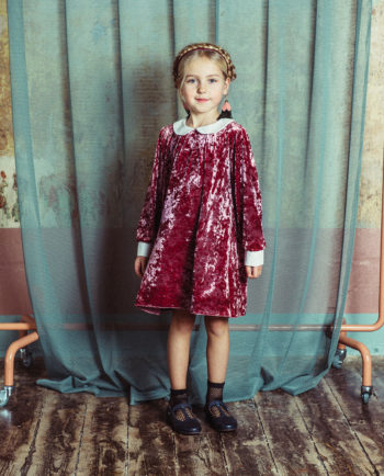 Velvet Dress Matilda Pink