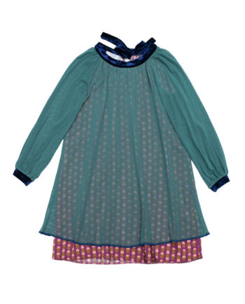 Tulle Dress Emily Aqua with Ties
