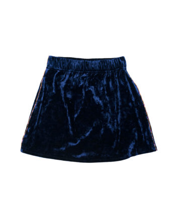 Velvet Mini Skirt Matilda Blue