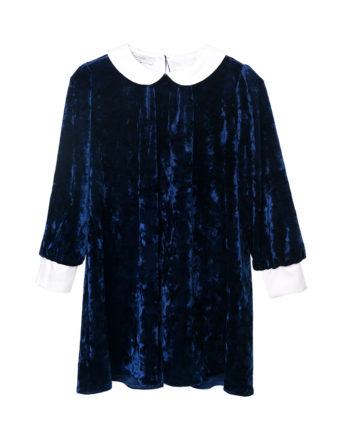 Velvet Dress Matilda Blue