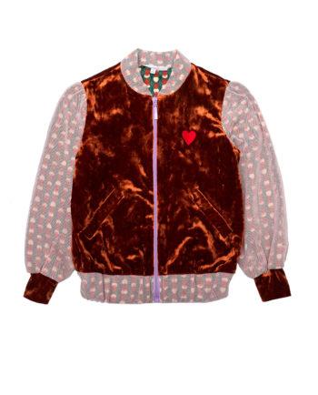 Tulle Velvet Bomber Jacket Emily Pink