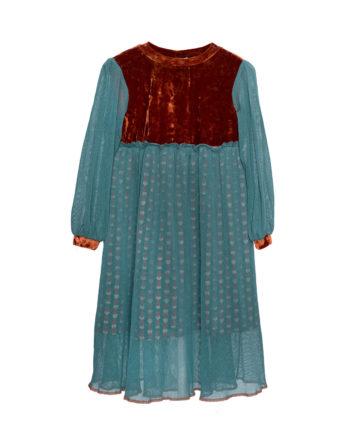 Tulle Maxi Dress Emily Aqua