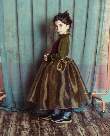 Chiffon Skirt Alice Green