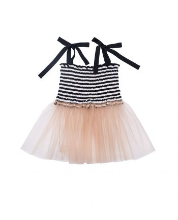 Tulle Top Blanche