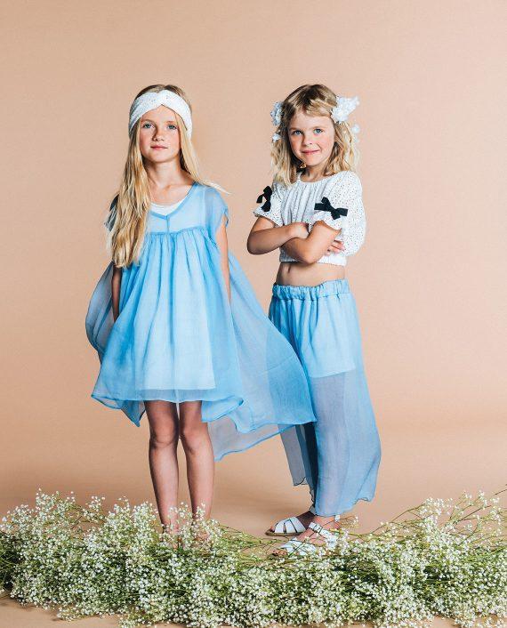 Chiffon Culottes Azur