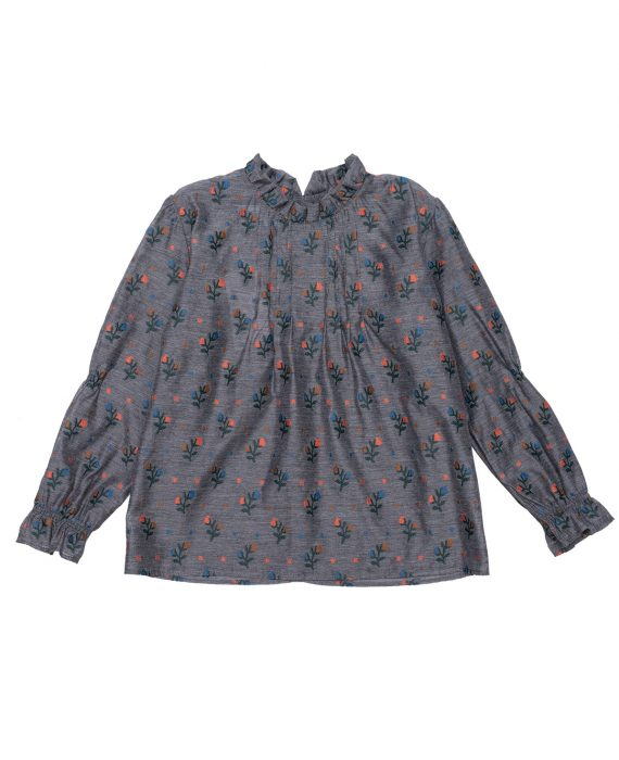 Embroidered Viscose Blouse Olivia