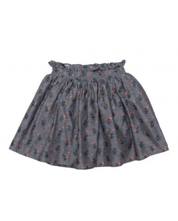 Embroidered Viscose Skirt Olivia