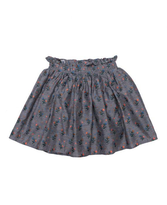 Embroidered Viscose Skirt Olivia