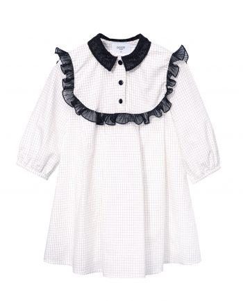 Checkered Cotton Tunic Connie