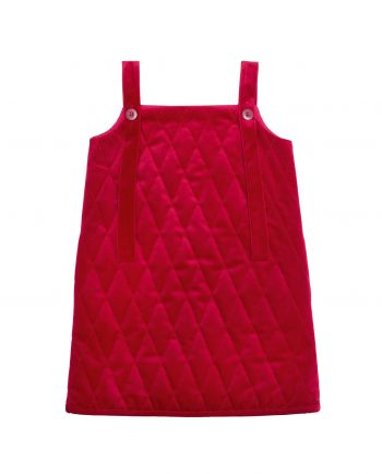 Quilted Velvet Pinafore Huston Red