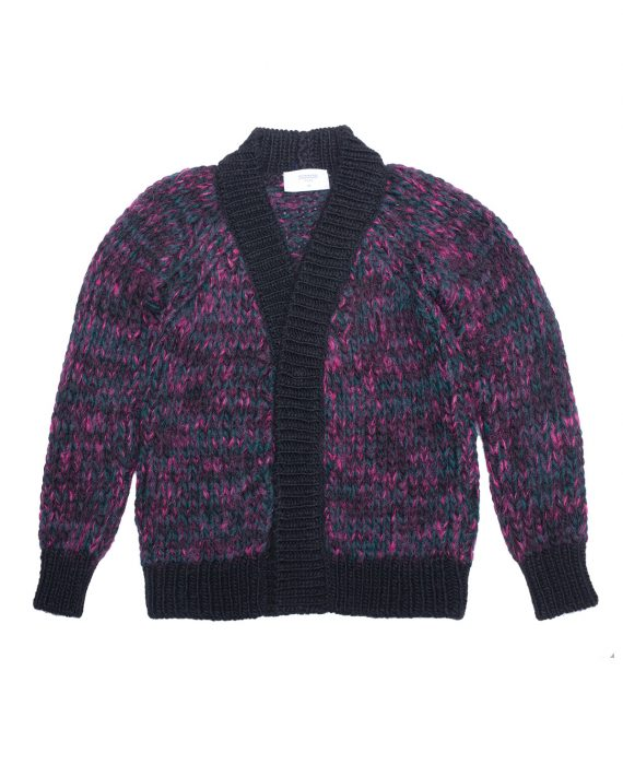 Alpaca Cardigan Harris Green