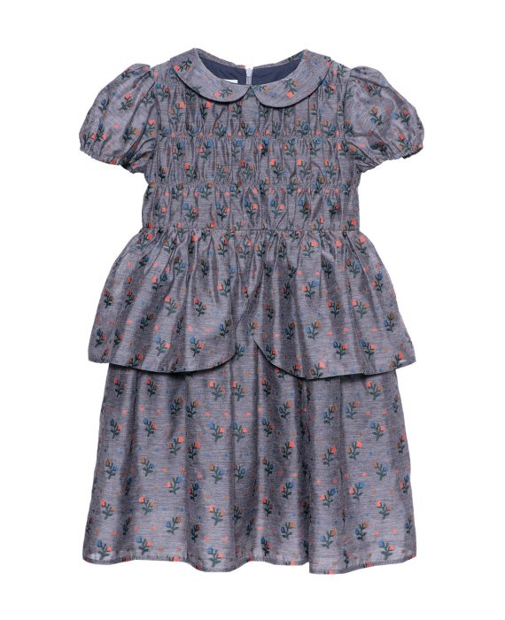 Embroidered Viscose Queen Dress Olive