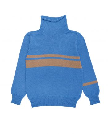 Merino Turtleneck Robbie Blue