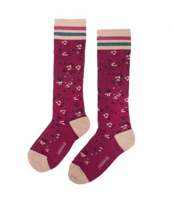 Cotton Socks Joni Burgundy
