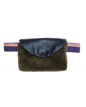 Faux Fur Bag Joplin Green