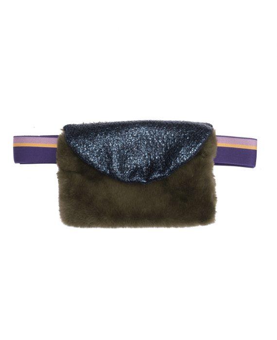 Faux Fur Bag Joplin Green